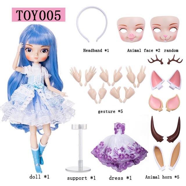 35 Cm maquillage poupée BJD ABS tige fin marionnettes filles mignonnes poupée habiller bricolage avec robe maquillage princesse nue mode jouets pour les filles