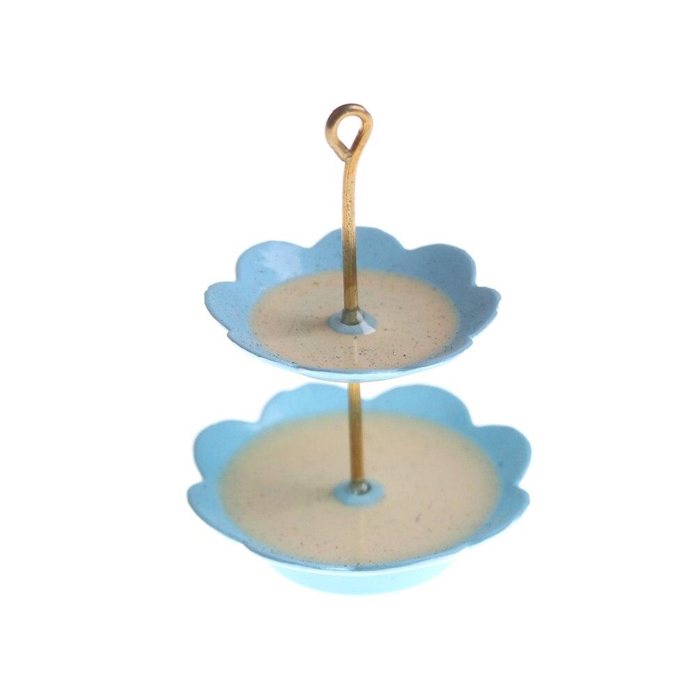 1pcs  Miniature 3 Layer Metal Fruit Desserts Snack Rack Stand Pretend Play Kitchen Furniture Toys 1/12 Dollhouse
