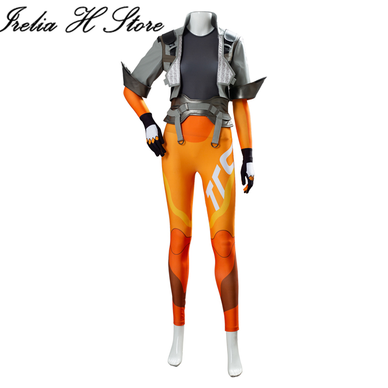 Tracer cosplay costume coat shirt pants daily set suit 1