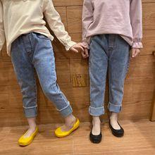 Jeans Girls Pants Kids Korean-Design Denim Fashion New-Arrival