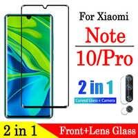 2 in 1 Nota 10 pro Vetro di Protezione su Per Xiao mi mi Note10 10Pro Note10pro Temperato Glas Con La macchina fotografica lente dello schermo della pellicola della protezione