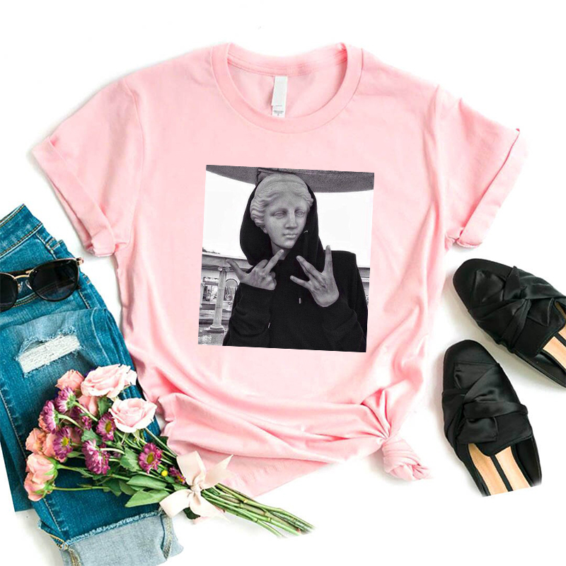 Novelty Vaporwave Aesthetic T Shirt Trendy Funny Graphic Tee Tops Cyberpunk Art T-shirt Male Female Tee Shirt Harajuk Tshirt(China)