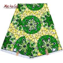 Xiaohuagua африканская ткань зеленая полиэфирная Анкара из традиционного
