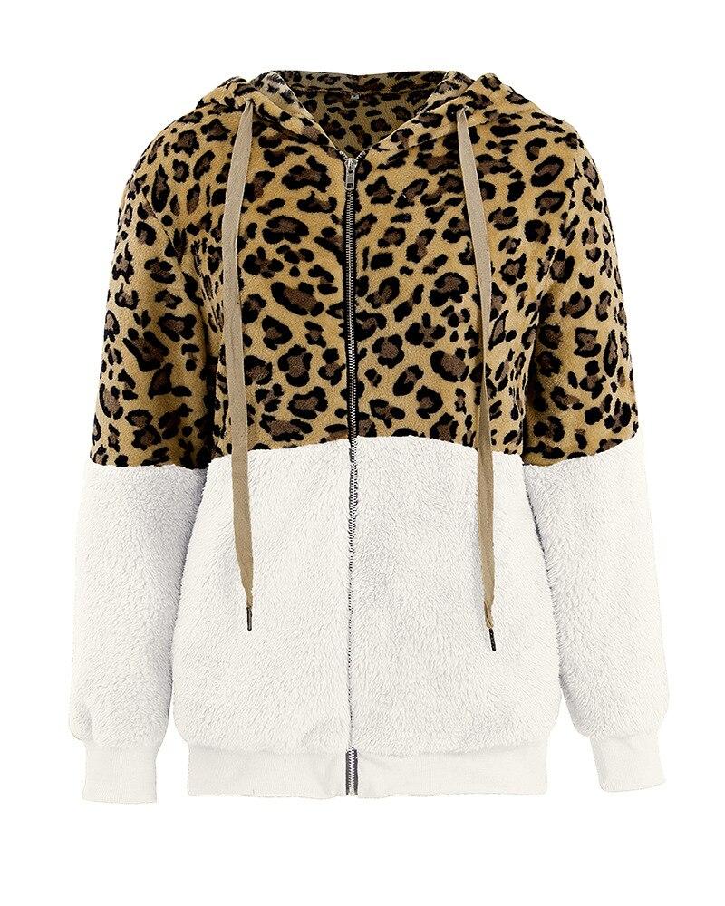 2019 jaqueta de lã de leopardo mulheres