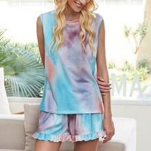 Комплект одежды для дома из 2 предметов с принтом tie dye 2020