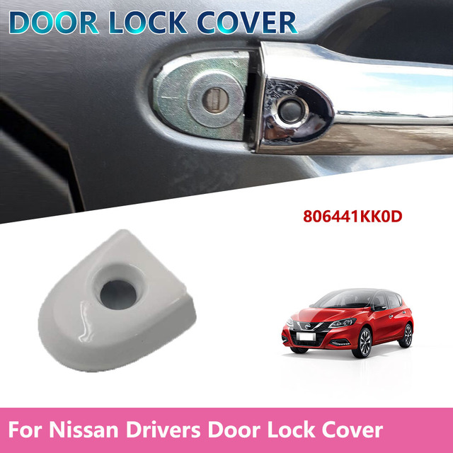 806441KK0D Car Replacement Door Lock Cover For Nissan Juke & Micra Drivers Door Lock Cover with Key Hole Car Accessories White