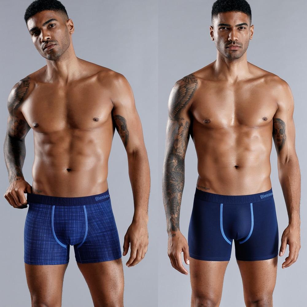 4 pezzi Set Boxer da uomo Boxer morbidi per mutandine da uomo mutande da uomo cotone maschile intimo Sexy Boxer pantaloncini famiglia Calecon 2