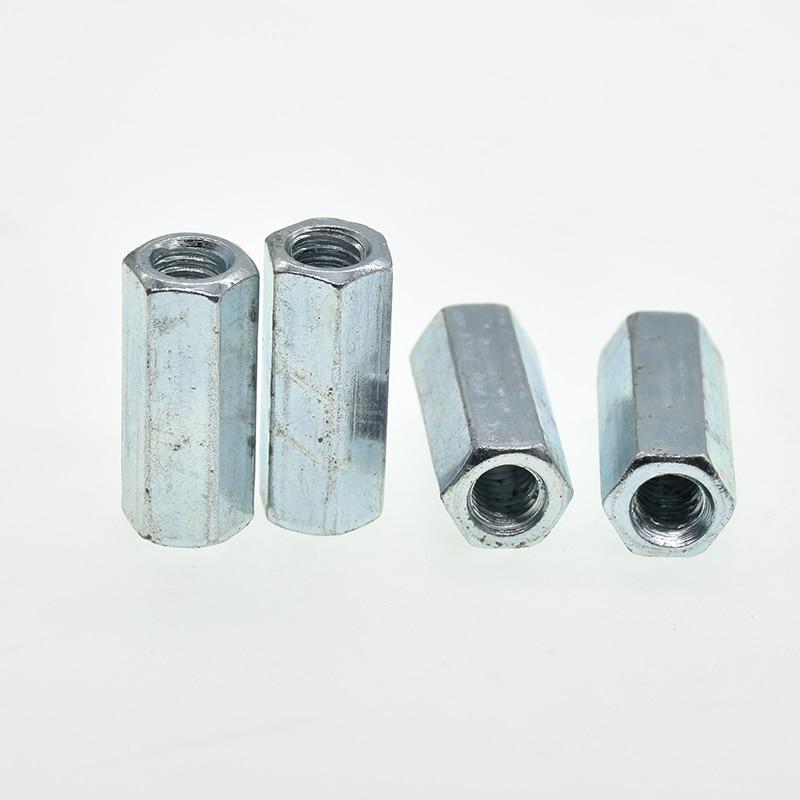 M5 M6 M8 M10 M12 M14 M16 M18 M20 стержень муфта Шестигранная гайка сталь оцинкованная длинная Шестигранная гайка Соединительная резьба гайка DIN 6334