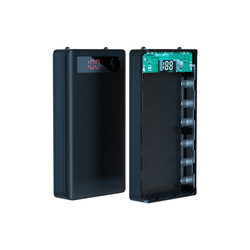 DIY 6x18650 Battery Case Power Bank Shell Portable External Battery Box Powerbank A6 LCD Display For Iphone 12 XS
