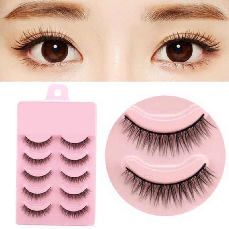Image 3 - 2019 Hot 5 Pairs Popular Natural Short Cross False Eyelashes Daily Eye Lashes Girls Makeup Necessaries Wimper Extensiofor-in False Eyelashes from Beauty & Health