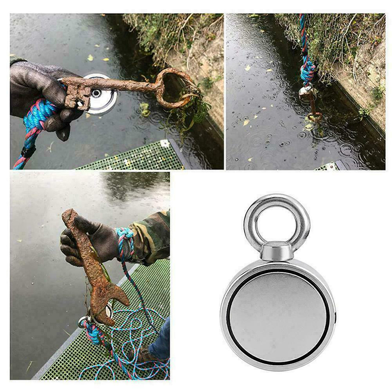 Fishing Magnet Tools 200/300KG Neodymium Metal Double Sided Magnetic Detector Lifting Hanging Camping Tent Fishing Boat Magnet