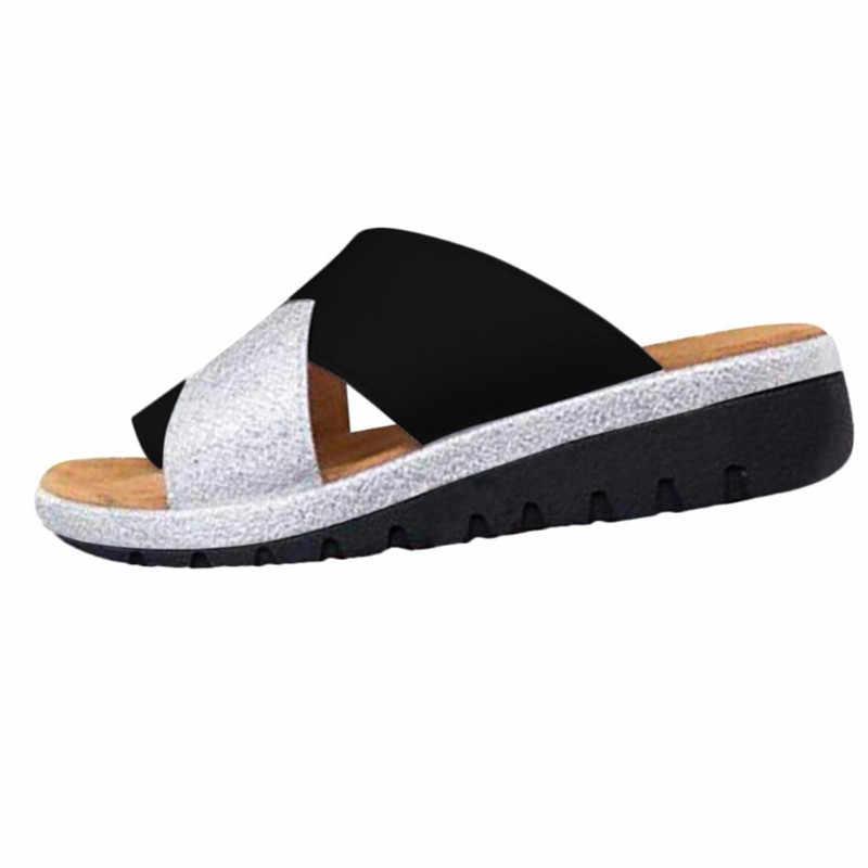 Donne Comodi Della Piattaforma del Sandalo di Borsite Corrector Scarpe Piedi Corretto Suola Piatta Spiaggia Ortopedico Pantofole Cura Del Piede