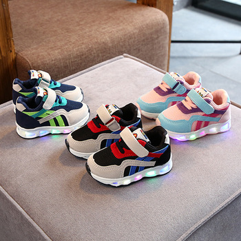 Size 21-30 Children's Led Shoes Boys Girls Lighted Sneakers Glowing Shoes for Kid Sneakers Boys Baby Sneakers with Luminous Sole 2019 new size 26 44 kids luminous sneakers for girls boys women shoes with light led shoes with flower glowing sneakers