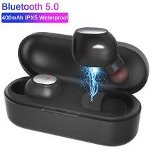 CALETOP Bluetooth 5.0 TWS Wireless Earphone IPX5 Waterproof Earbuds with Microphone Handsfree 3D Stereo Sound for iPhone Xiaomi