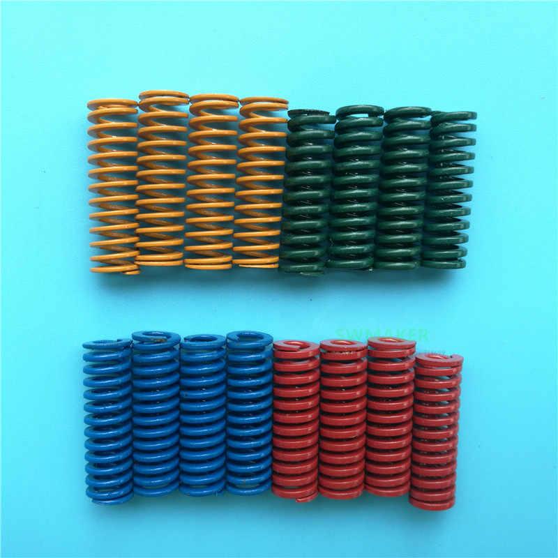 4pcs ที่มีสีสันสูง Superalloy เหล็กฤดูใบไม้ผลิความสูง 25 มม.OD 8 มม.สำหรับเตียงอุ่น CREALITY PRUSA i3 3D ชิ้นส่วนเครื่องพิมพ์