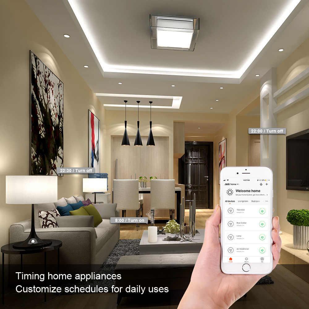 Tuya Smart życie App inteligentne gniazdo WiFi ue wtyczka UK US wylot zasilania monitora współpracuje z Alexa Google Home IFTTT automatyki inteligentnego domu