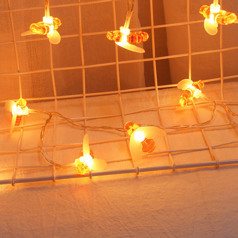 Window Curtain Bee Lights String House Party Decor Striking Lighting With 20 LED Beads DIY Holiday Lantern USB Powered Karachi