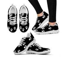 Elviswords/женские кроссовки с милыми собачками и принтами ног;