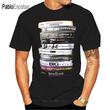 Biggie 2Pac Tapes Notorious BIG Tupac Legend black Men T-shirt summer fashion brand euro size teeshirt male tshirt(China)