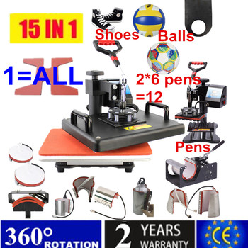 15 In 1 Combo Muntifunctional Sublimation Heat Press Machine T shirt Heat Transfer Printer For Mug