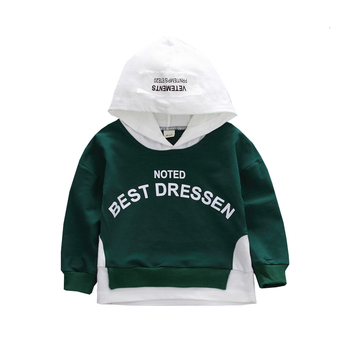 New Spring Autumn Children Fashion Clothes Baby Boys Girls Letter Hoodies Kids Infant Patchwork Clothing Toddler Casual Costume spring autumn baby clothes suit children boys girls cartoon pattern hooded toddler fashion casual clothing kids outing costume