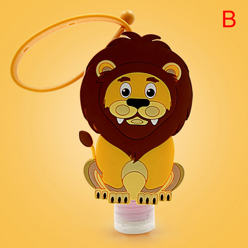 Cartoon Silicone Mini Hand Sanitizer Holder Travel Portable Safe Gel Holder Hangable Liquid Soap Dispenser Containers for Kids