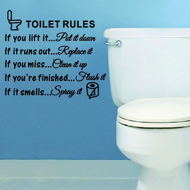 Toilet Rules Dialogue Stickers 8