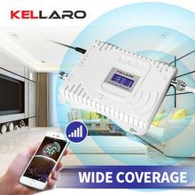 KELLARO 2G 3G 4G Signal Booster Triple Band Mobile Amplifier LTE Cellular Repeater GSM DCS WCDMA 900 1800 2100 Set