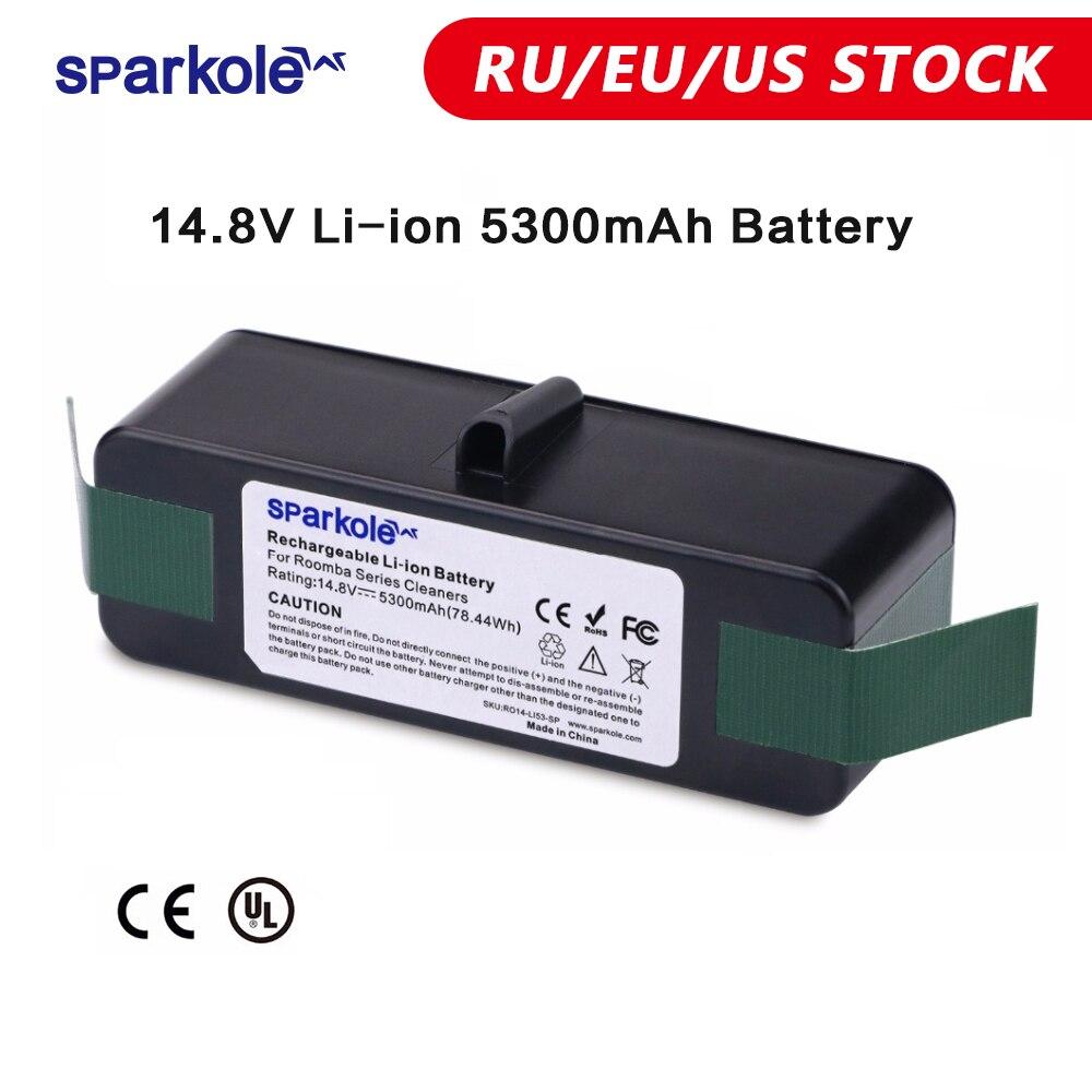 Sparkole 5.3 Ah 14.8V Li-ion Battery for iRobot Roomba 500 600 700 800 Series 530 560 580 620 630 650 760 770 780 790 870 880(China)
