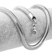 Never Fade Silver Choose 6mm Cool Mens Womens 316L Stainless Steel Round Snake Chain Necklace 24
