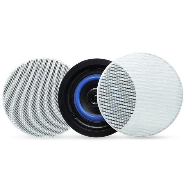 Herdio 4 Inches Bluetooth Ceiling Speakers  Kit Bathroom Wireless Bluetooth Amplifier Water Resistant Ceiling Speakers (2 Way)