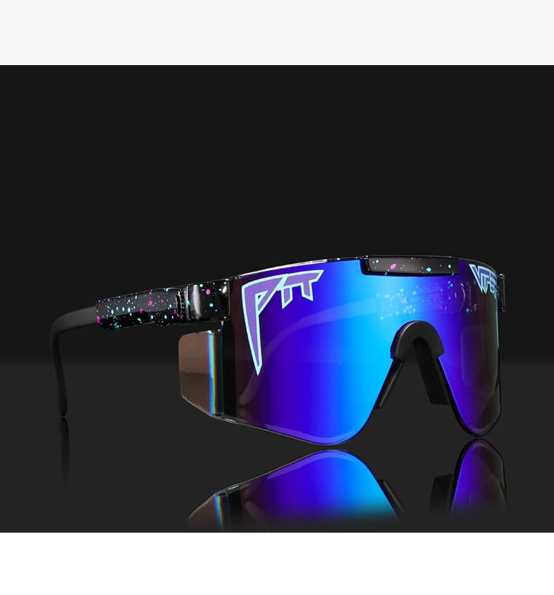 Oversized Blue men flat top sunglasses for womens sports rimless sun glasses pit viper 2020 luxury brand gafas de sol