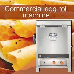Six-sided gas egg roll machine Commercial snack bar Stainless steel body Multifunction Ice cream crisp machine