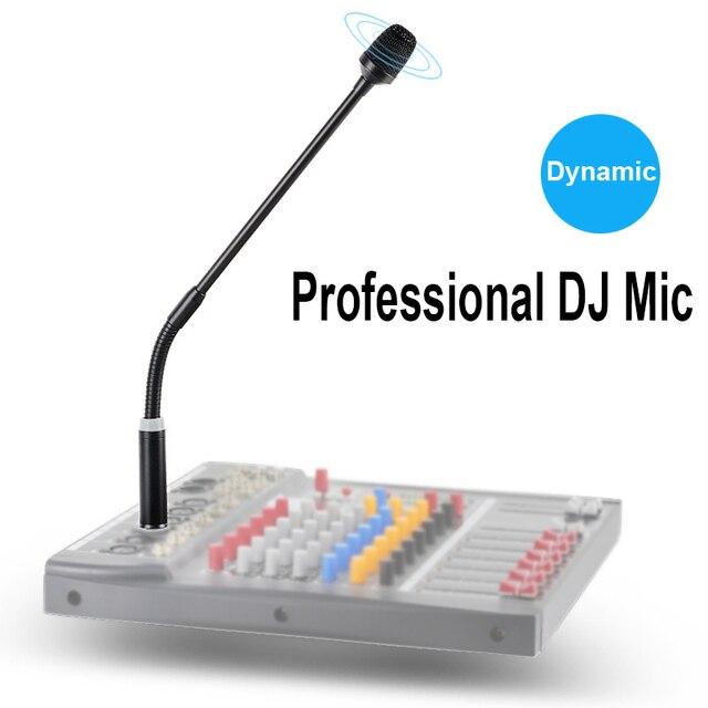 Aay-profesjonalny dynamiczny mikrofon DJ do miksera dedykowany dysk krzyczący mikrofon KTV Bar Gooseneck DJ Mic