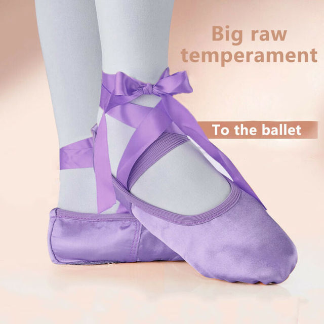 Kids Bandage Children Ballet Shoes Pink Purple Apricot &Red Canvas Ballet Dance Shoes
