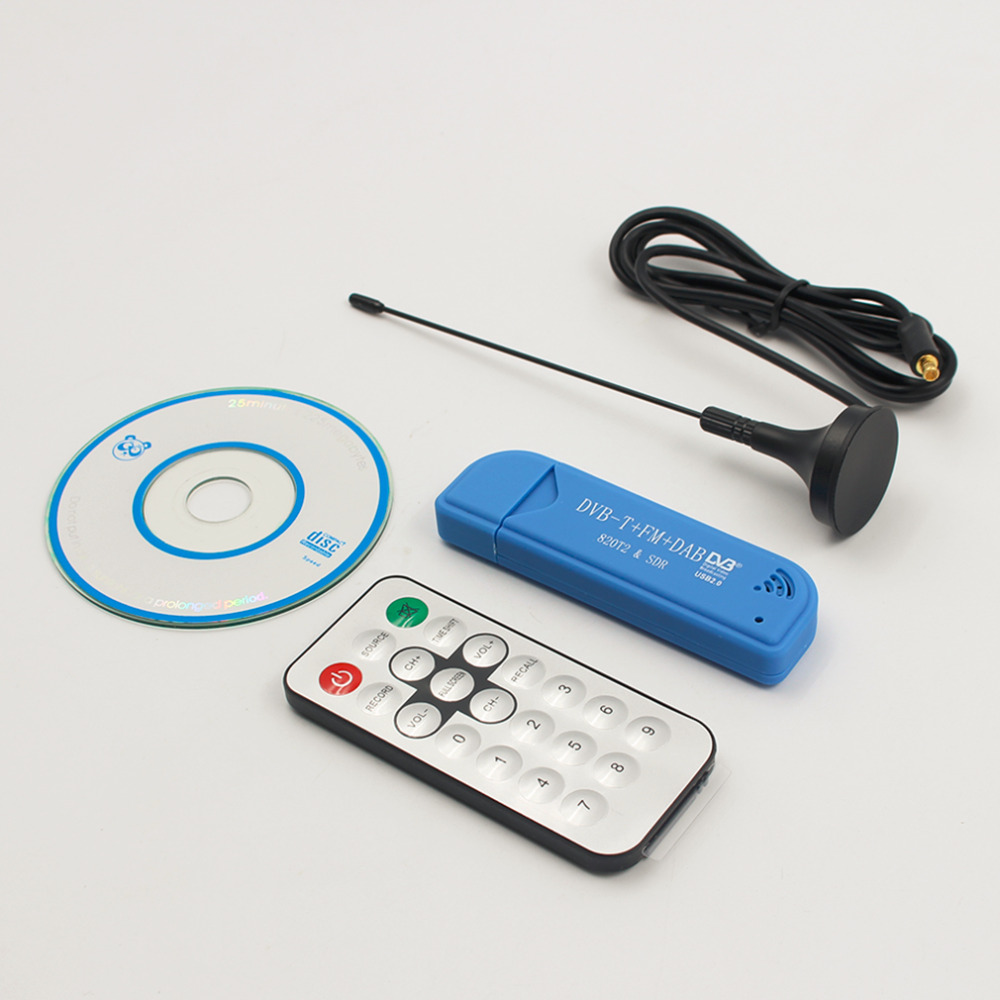 Digital TV Receiver Stick USB 2 0 Digital DVB T SDR DAB FM HDTV TV Tuner
