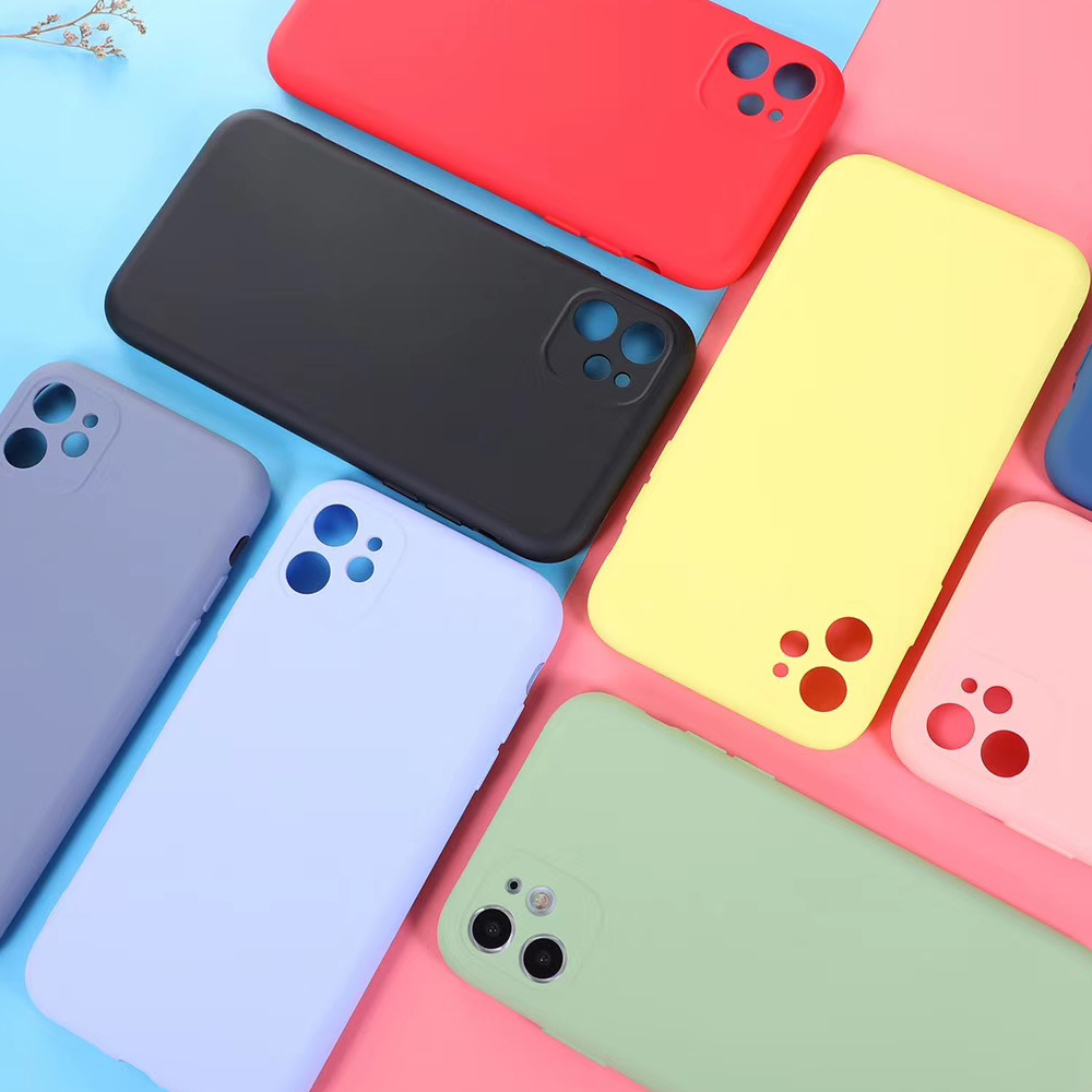 LACK Full Protection lens Candy Color Couples Phone Case for iPhone 11 11Pro Max X XS XR 7 8 6 6S Plus Soft Silicone Back Cover 2