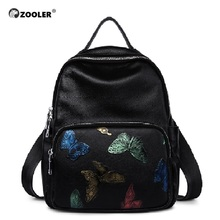 ZOOLER Brand Genuine leather backpack women school backpacks female pagback handbags shoulder bags D110