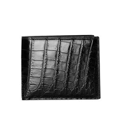 Customized Initials Luxury Genuine Real Crocodile Leather Men Wallet Coin Purse Fashion Crocodile Skin Short Wallet Card Holder