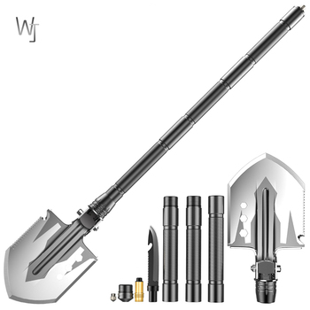 Military Tactical Multifunction Shovel Outdoor Nuggets Tools Camping Survival Folding Spade Tool Car Equipment Snow Shovel large size outdoor adjustable snow shovel camping shovel survival shovel upscale outdoor folding shovel survival camp spade tool