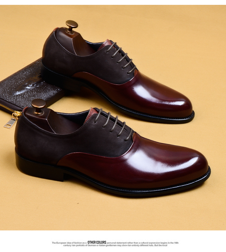 Phenkang Mens Formal Shoes Genuine Leather