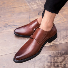 Spring/Autumn Men Leather Oxford Flat Classic Formal Shoes Round Toe Business Shoes Black Brown Plus Size 38-48 Sapato(China)