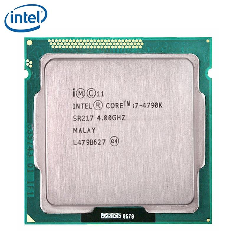 Processeur Intel Core i7-4790K i7 4790K, 4GHz, 4 cœurs, 8 threads, 88W, 8 mo, LGA 1150, testé et fonctionnel à 100%