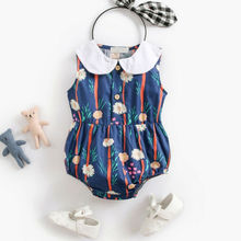 Cute Floral Romper 2pcs Baby Girls Clothes Jumpsuit Romper+Headband 0-24M Age Ifant Toddler Newborn Outfits Set Hot Sale