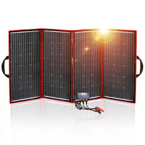 China para Acampar Dokio Painel Solar Dobrável Flexível Hiqh Qualidade Portátil – Barco rv Viagem Casa Carro 300 w 18 v