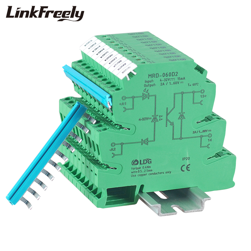 MRD-060D2 10pcs Original Programmable LED Indicator SSR DC DC 2A Input:5V 12V 24VDC Bridging Interface Relay Module Switch Board(China)