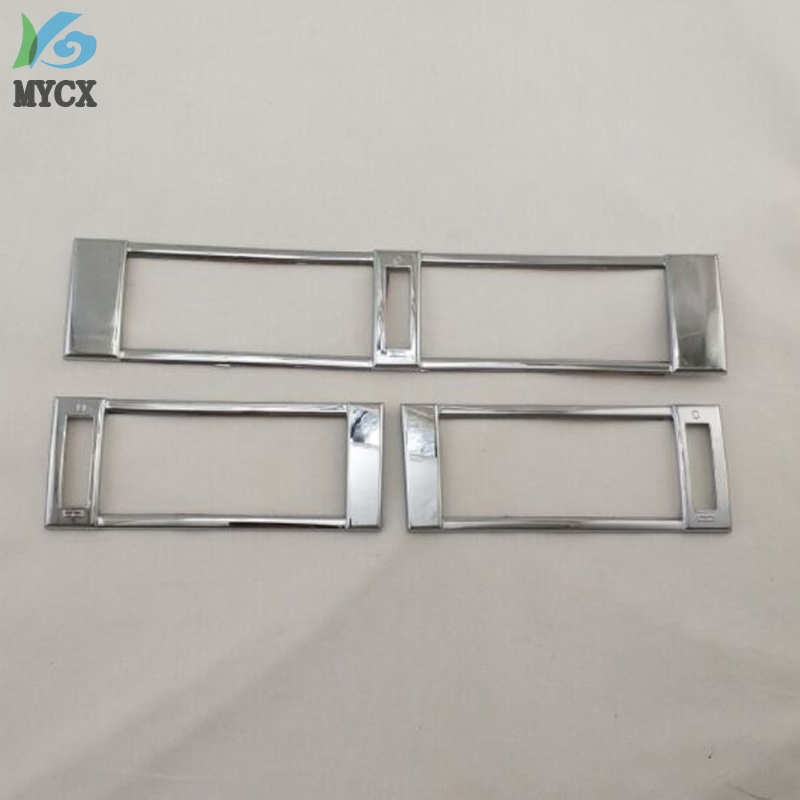 For <font><b>Mercedes</b></font>-Benz <font><b>W124</b></font> 1984-1996 High-Quality 3PCS ABS <font><b>Chrome</b></font> Air Conditioning Outlet Decora AIR-CONDITION COVER Car Accessories image