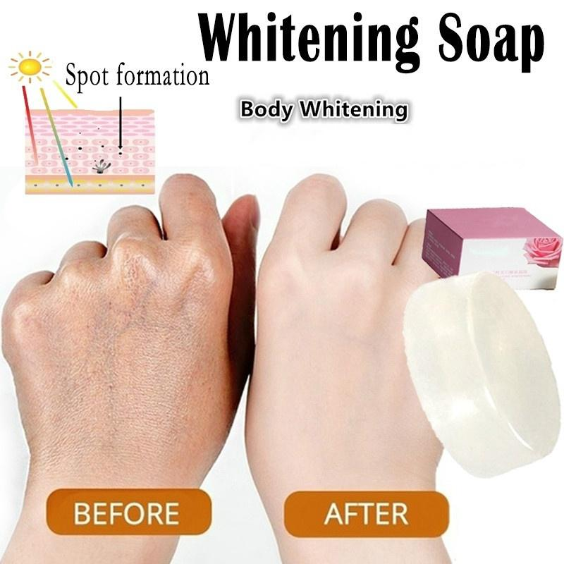 New Active Enzyme Body Whitening Crystal Soap Natural Milk Charming Effective Whitening Soap Whitening Soap Skin Bleach