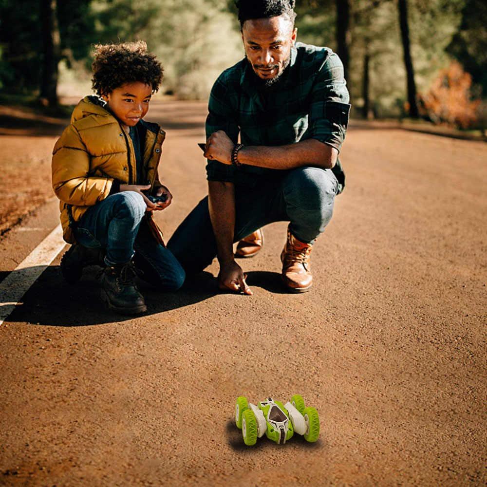 Sinovan Hugine RC coche 2,4G 4CH truco deriva deformación Buggy coche Rock Crawler rollo de coche 360 grados Flip niños Robot coches RC de juguete