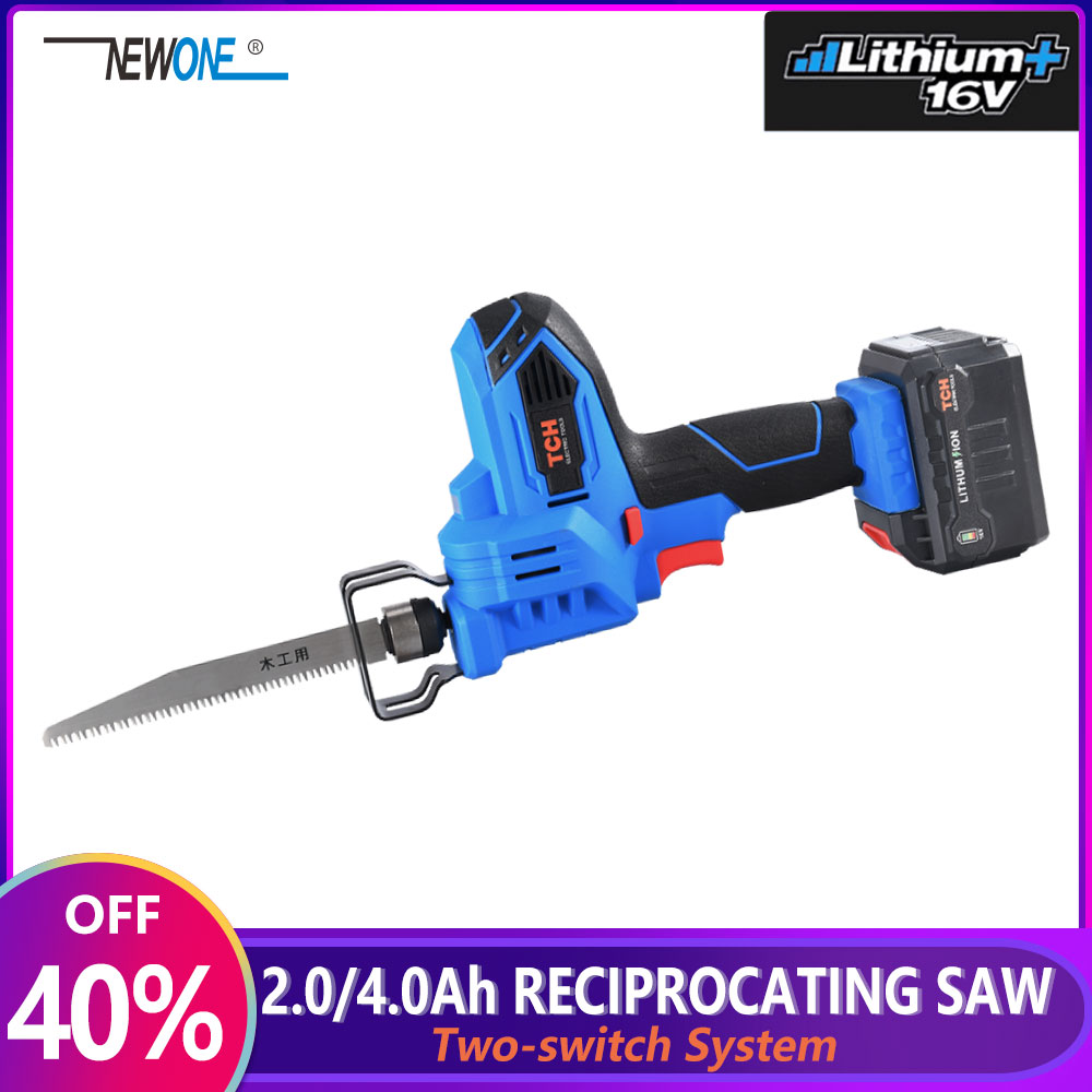 TCH Electric 16V Portable Charging Reciprocating Saw Electric Saber Saw for wood mutifunctional power tools Two-switch System